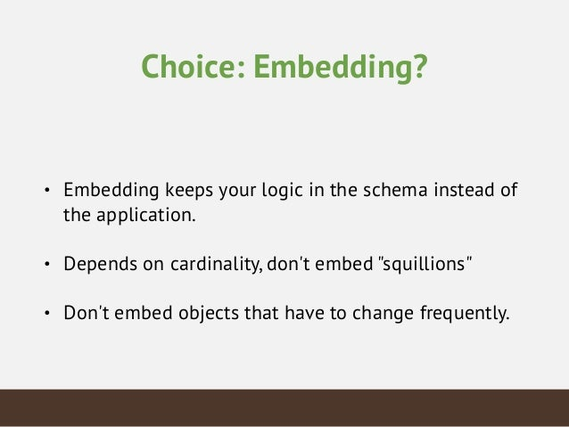 Choice: Field Shortening • Indexes are still the same size • Decreases readability • In our example you can save ~40% spac...