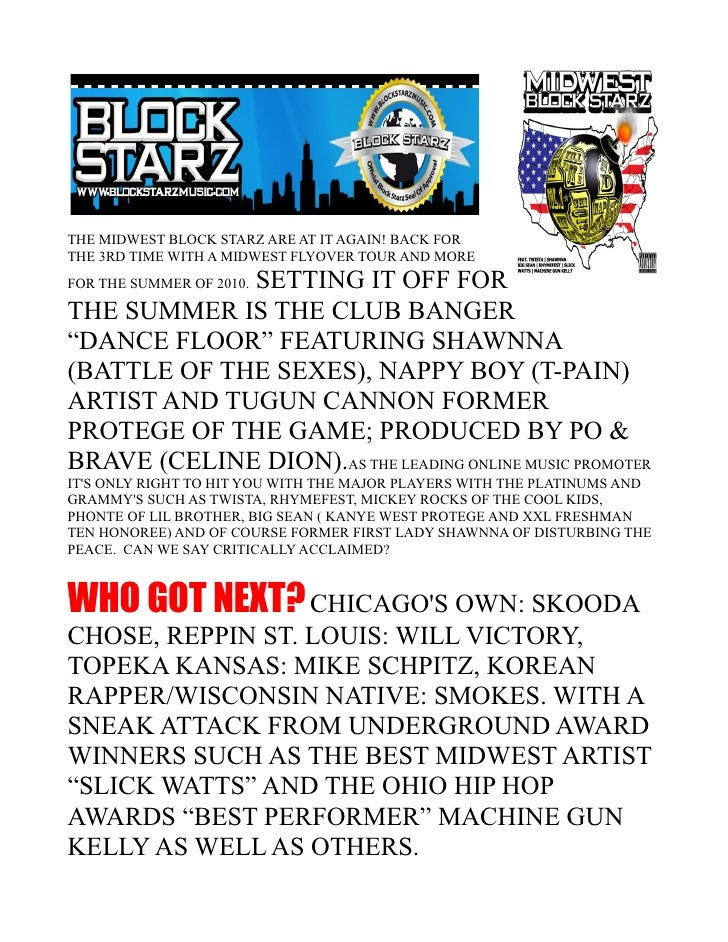THE MIDWEST BLOCK STARZ ARE AT IT AGAIN! BACK FOR THE 3RD TIME WITH A MIDWEST FLYOVER TOUR AND MORE              SETTING I...