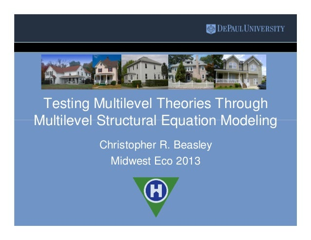 Testing Multilevel Theories Through Multilevel Structural Equation Modeling Christopher R. Beasley Midwest Eco 2013