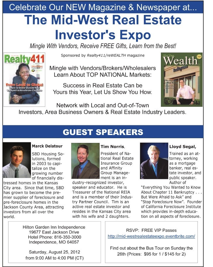 Mid-West Real Estate EXPO by Realty411 Magazine