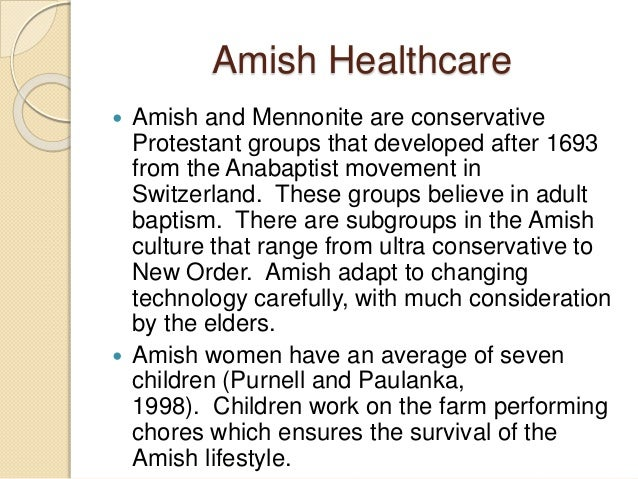 What Drives The Amish Culture?