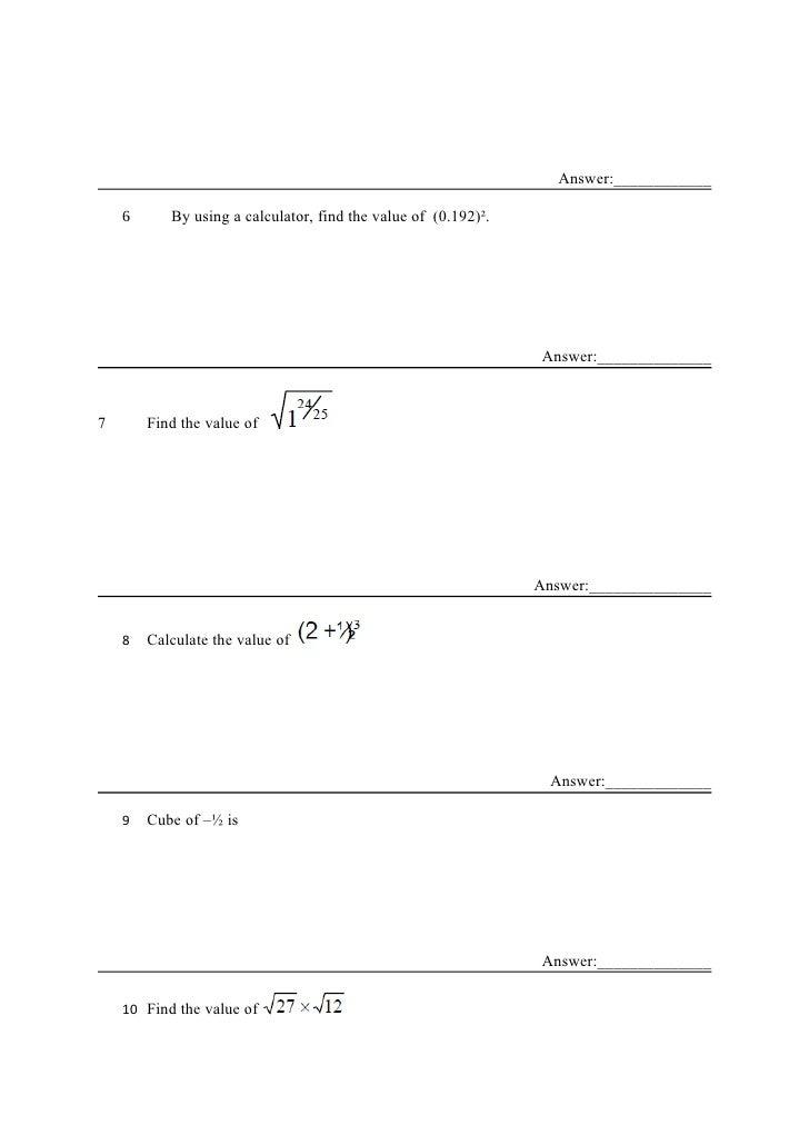 Mathematics papers ks3