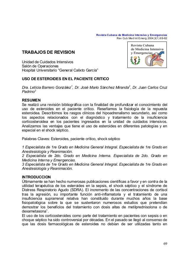 Revista Cubana de Medicina Intensiva y Emergencias                                                           Rev Cub Med I...