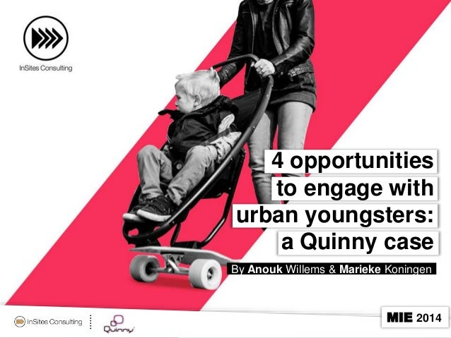 4 opportunities to engage with urban youngsters: a Quinny case By Anouk Willems & Marieke Koningen  MIE 2014