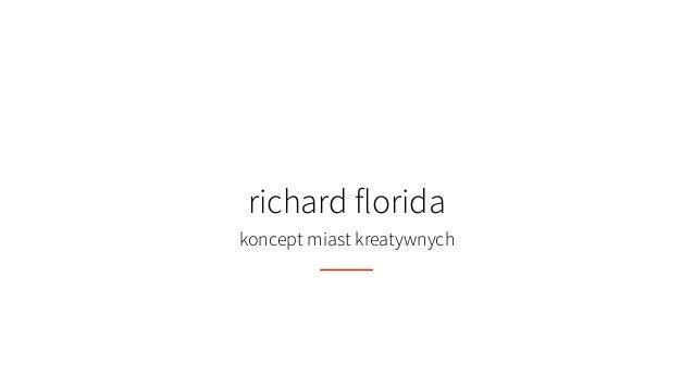 richard florida koncept miast kreatywnych
