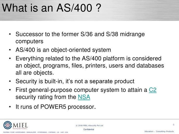 AS400 security presentation - ISACA 2008 - for distribution