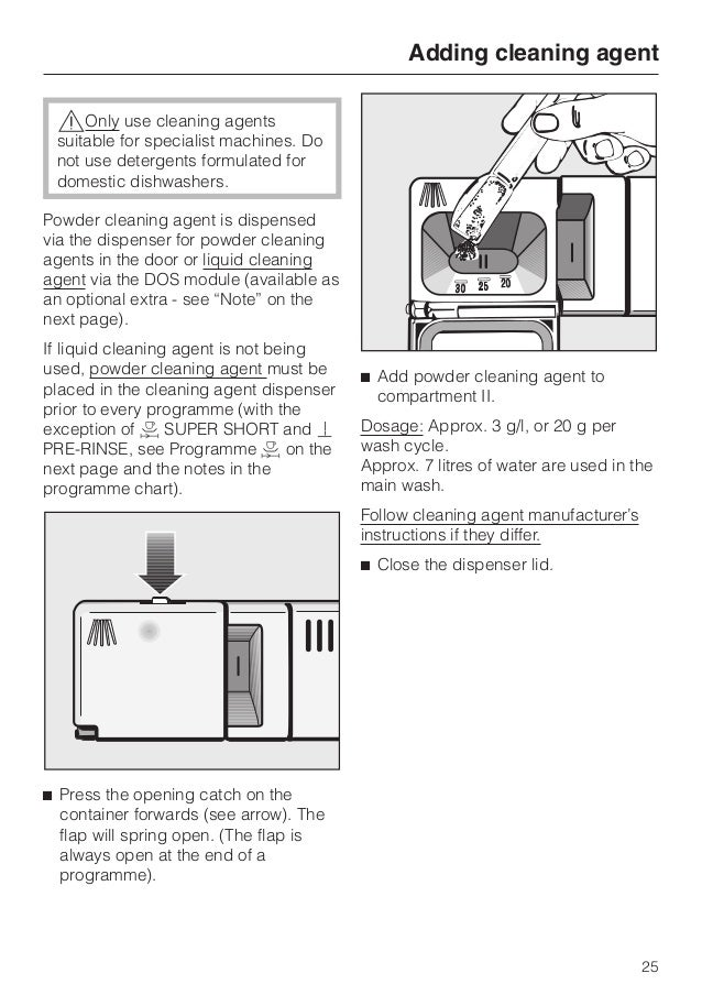 Miele dishwasher g7856