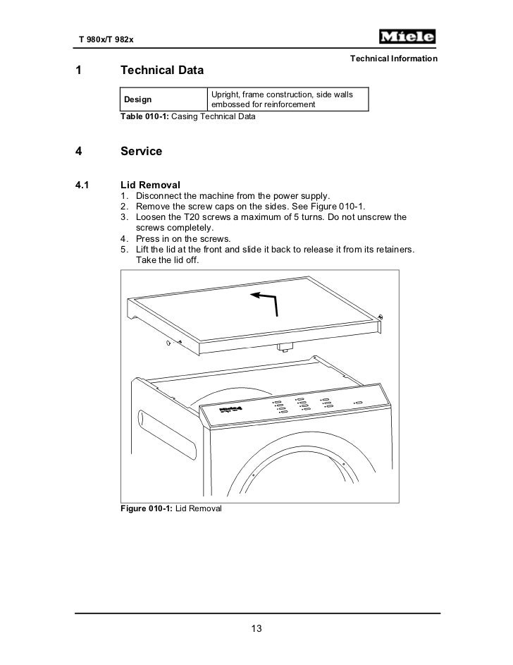 Dryer Miele manual