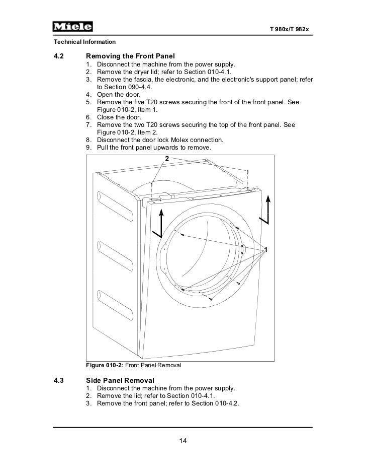 Fabulous Miele Gas Dryer T9820 Service Manual Wiring Cloud Favobieswglorg