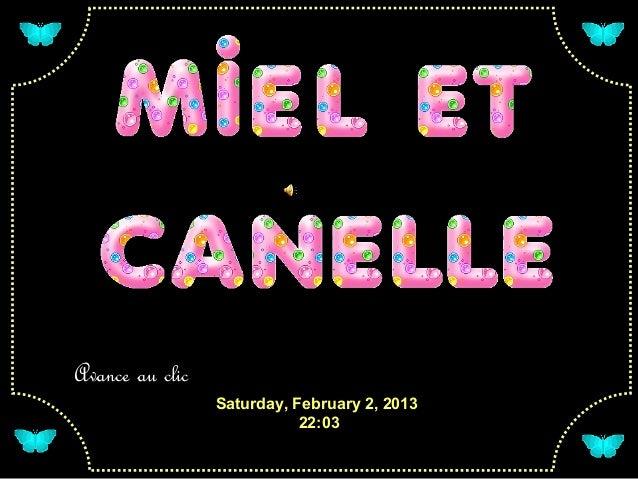 Avance au clic                 Saturday, February 2, 2013                            22:03
