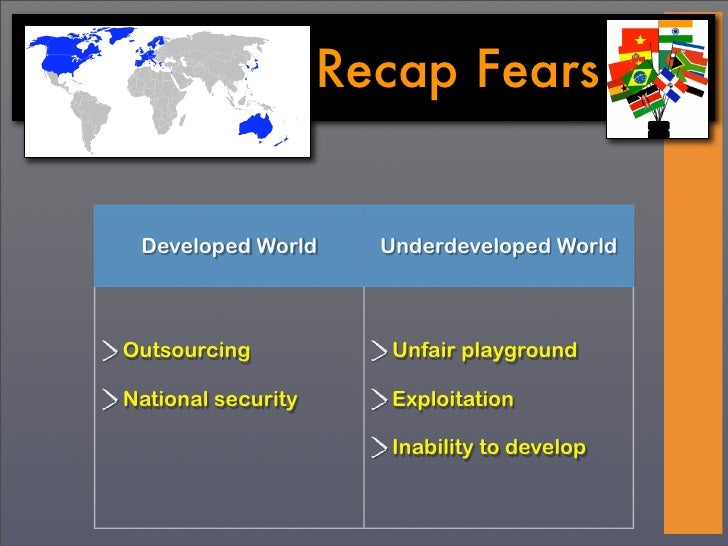 unfair trade between developed and undeveloped countries The underdevelopment of africa by europe  a trade imposed by the better developed guns and ships of  amount of influence on how african countries developed.