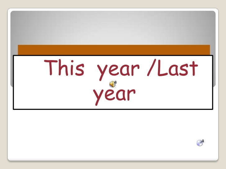 This year /Last     year
