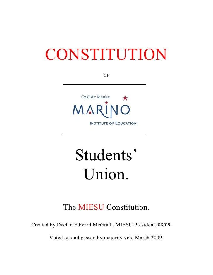 MIESU Constitution