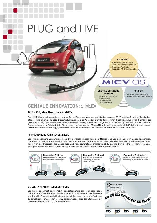 MiEV OS, das Herz des i-MiEV Der i-MiEV hat ein innovatives und komplexes Fahrzeug-Management-System namens OS (Operating ...