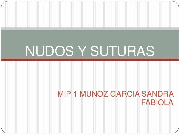 NUDOS Y SUTURAS   MIP 1 MUÑOZ GARCIA SANDRA                      FABIOLA