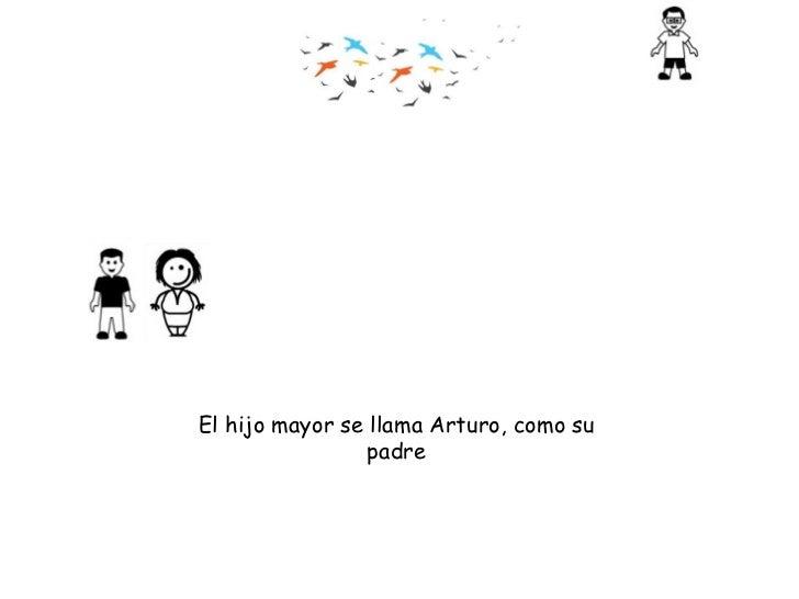 El hijo mayor se llama Arturo, como su padre