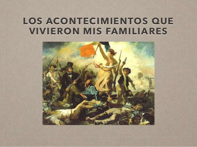 LOS ACONTECIMIENTOS QUE VIVIERON MIS FAMILIARES