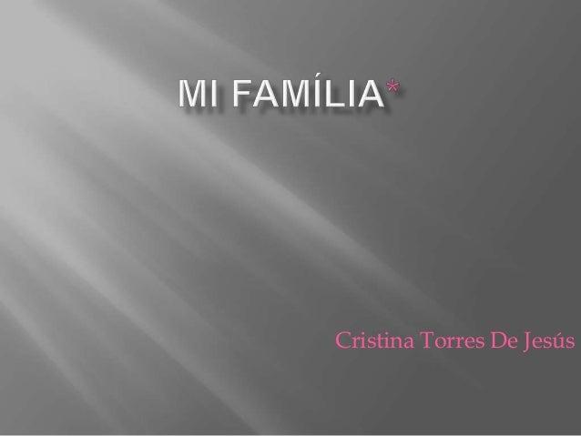Cristina Torres De Jesús