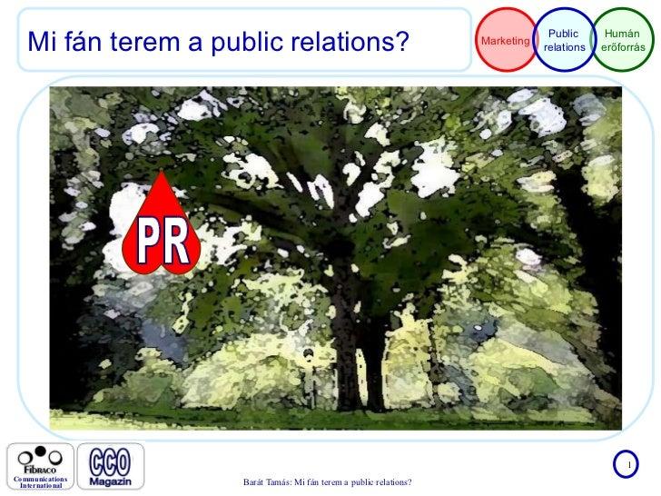 Mi fán terem a public relations? PR