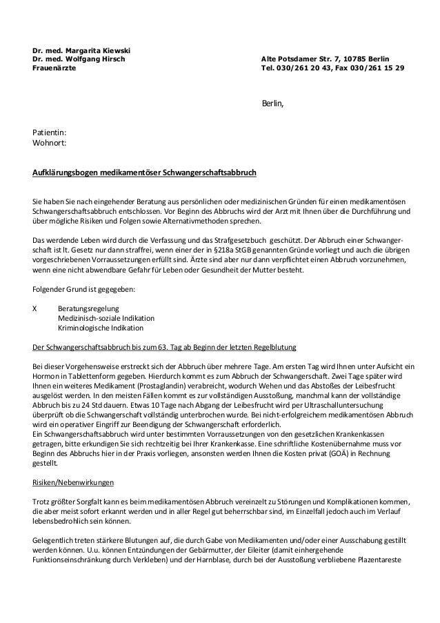 Dr. med. Margarita Kiewski Dr. med. Wolfgang Hirsch Alte Potsdamer Str. 7, 10785 Berlin Frauenärzte Tel. 030/261 20 43, Fa...