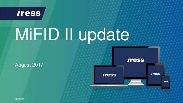iress.com MiFID II update August 2017