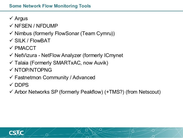 Flow Monitoring Tools, What do we have, What do we need?