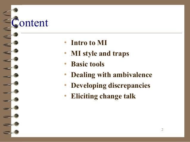 Basic Tenets of Motivational Interviewing Slide 2