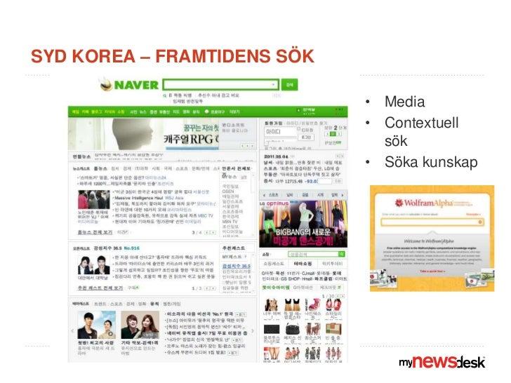Syd korea – framtidens sök<br />Media<br />Contextuell sök<br />Söka kunskap<br />
