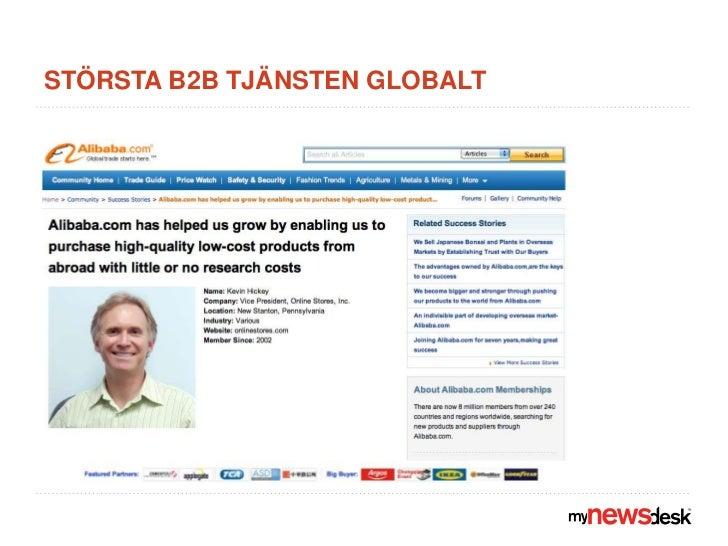 Största B2B tjänsten globalt<br />