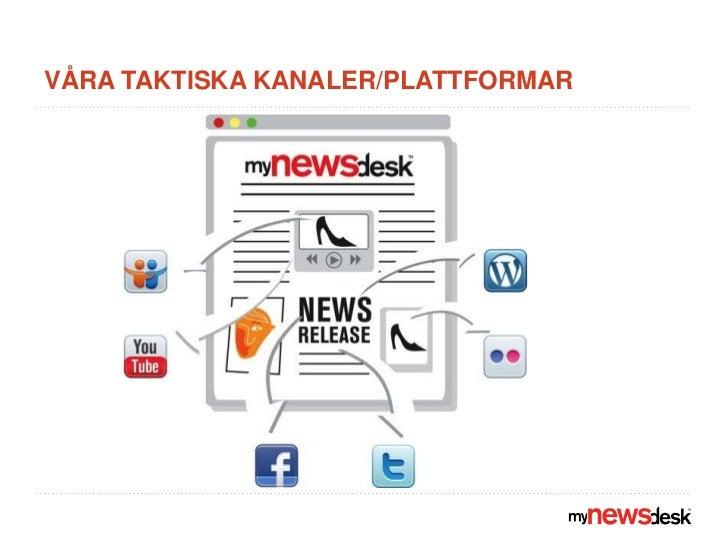 Våra taktiska kanaler/plattformar  <br />
