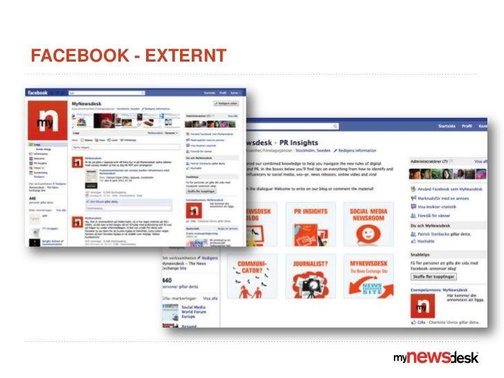 Facebook - externt<br />