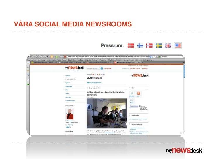 Våra social media newsrooms<br />