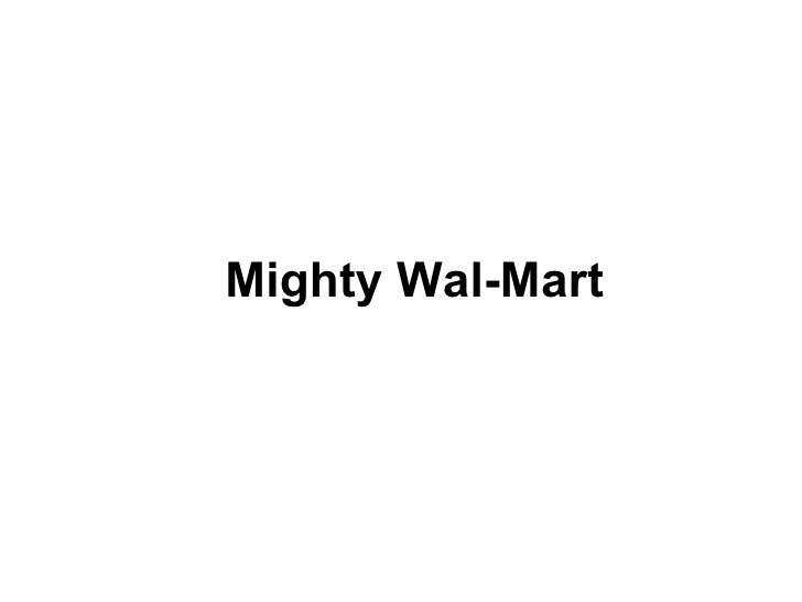 Mighty Wal-Mart