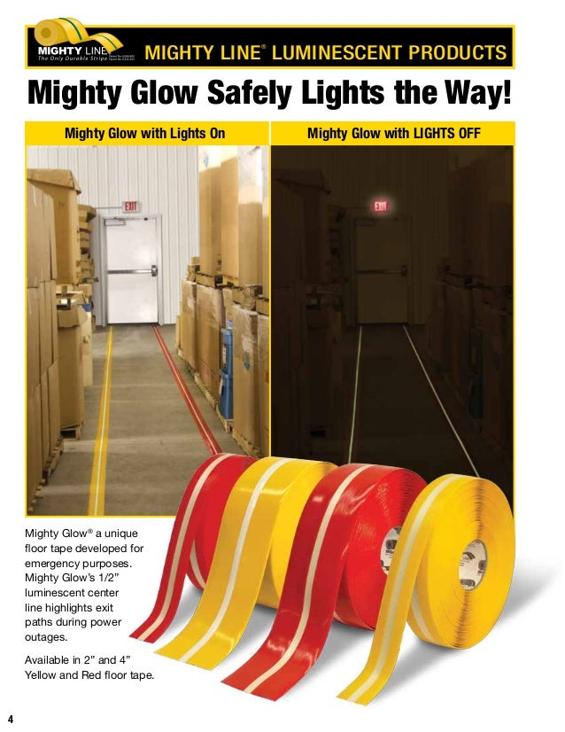 3 MIGHTY LINE ® FLOOR TAPE PRODUCTS; 4. Mighty ...