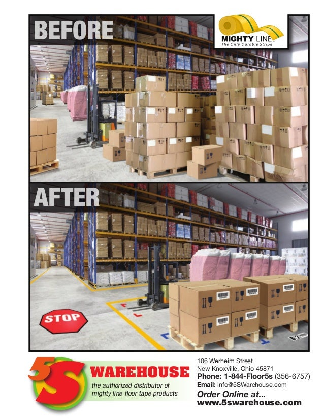 7614ecd40e52e1 5s Warehouse Floor Marking and 5s Floor Signs Tape Catalog