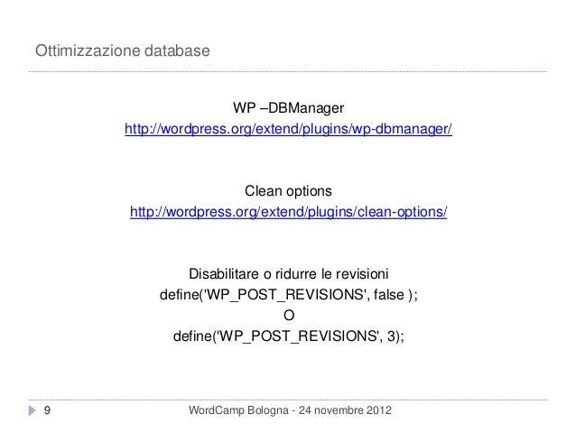 Miglioriamo le performance di wordpress slideshare - 웹