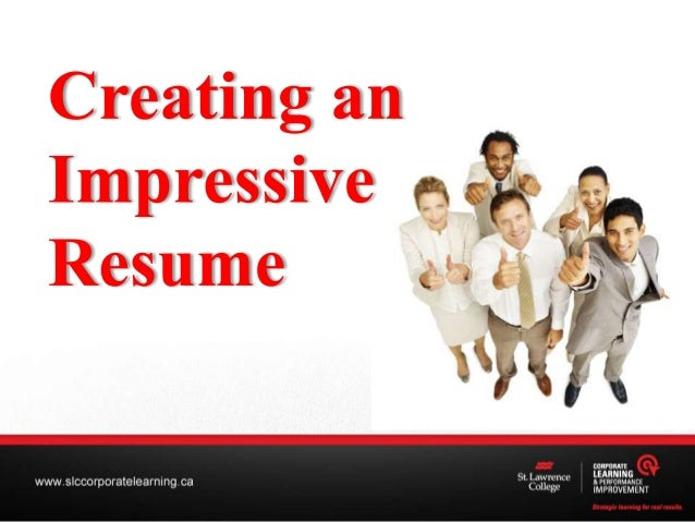 Creating an Impressive Resume