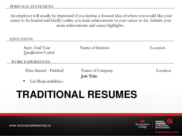 TRADITIONAL RESUMES; 10.  Creating Resume