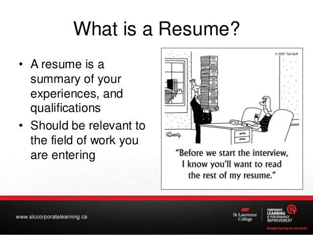 creating an impressive resume
