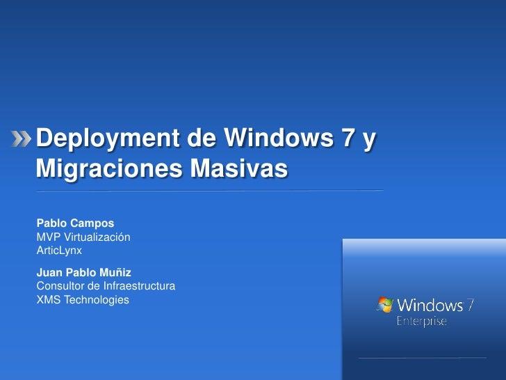 Migracion de xp a windows 7