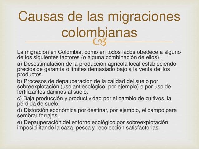 Migraciones En Colombia