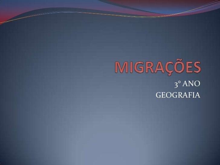 3° ANOGEOGRAFIA