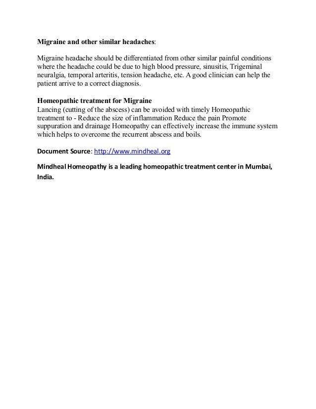 Migraine and its homeopathic treatment in Chembur, Mumbai, India Slide 2