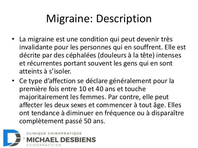 La migraine: Comment s'en sortir? Slide 2