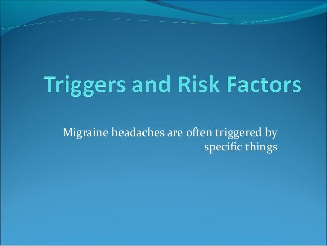 Migraine its presentation and management
