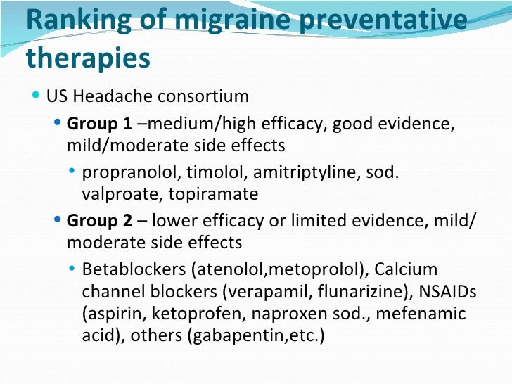 Toprol Dosage For Migraines