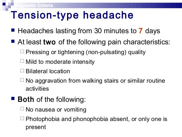 Migraine And Tension Headache