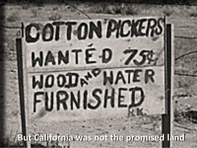 an analysis of farmworkers problems during the great depression and today
