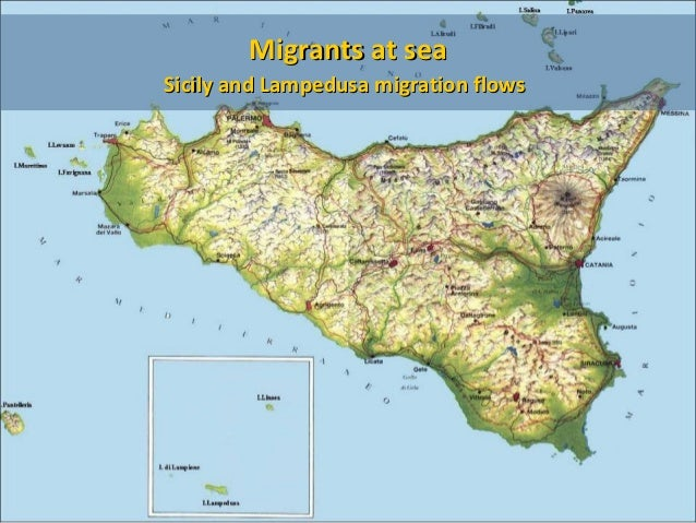 Migrants at seaSicily and Lampedusa migration flows