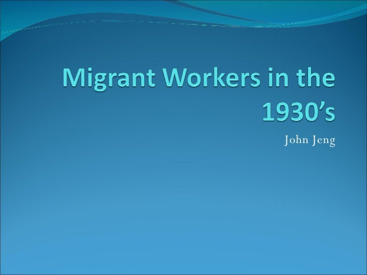 an analysis of the life of migrant american laborers Jordan bell teller a  even providing a description of day to day migrant worker life  quick-paced effort that migrant laborers exert at least six days per week.